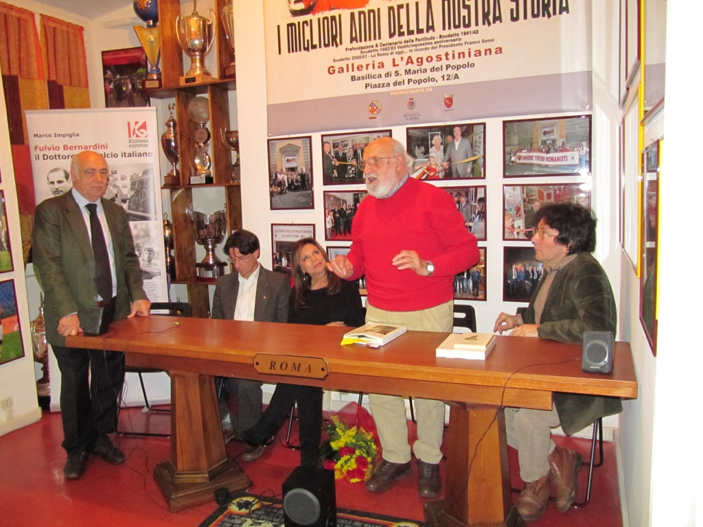 Unione Tifosi Romanisti Gianfranco De Laurentiis presenta la biografia di Bernardini